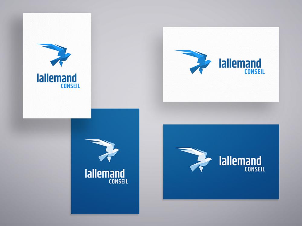 4 variantes du logo Lallemand Conseil