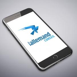 Logo Lallemand Conseil affiché sur mobile